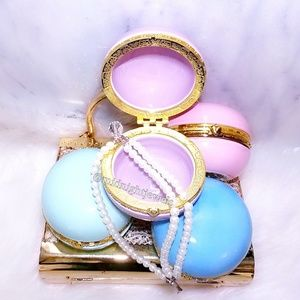 New Macaron Trinket Jewelry Storage Box Blue